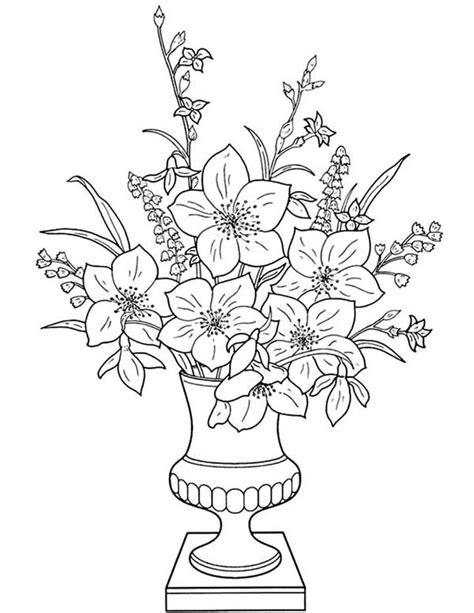 vaso di fiori disegno vasi di fiori da colorare 9