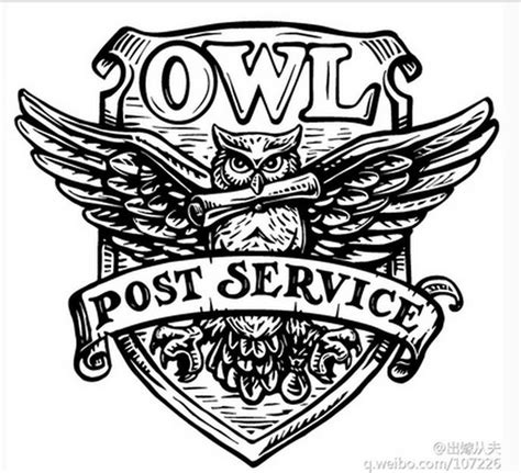 harry potter coloring book owl post retro harry potter post service owl wax seal st copper