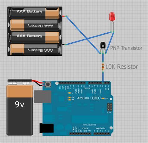 10k resistor fritzing motor power