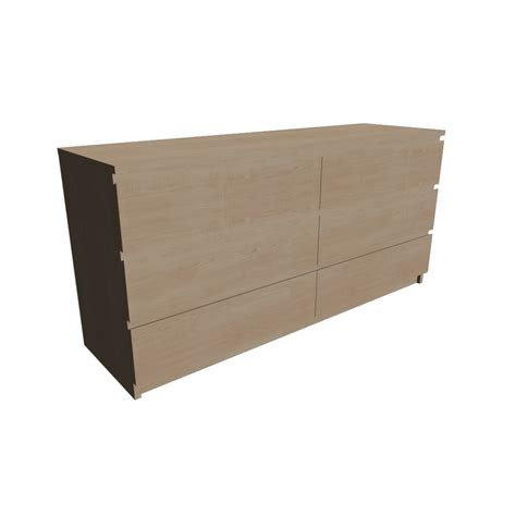 Malm Dresser 6 Drawer by Malm 6 Drawer Dresser Design And Decorate Your Room In 3d
