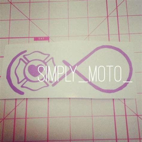 infinity ems tattoo fire fighter infinity decal by simplymoto on etsy 6 00