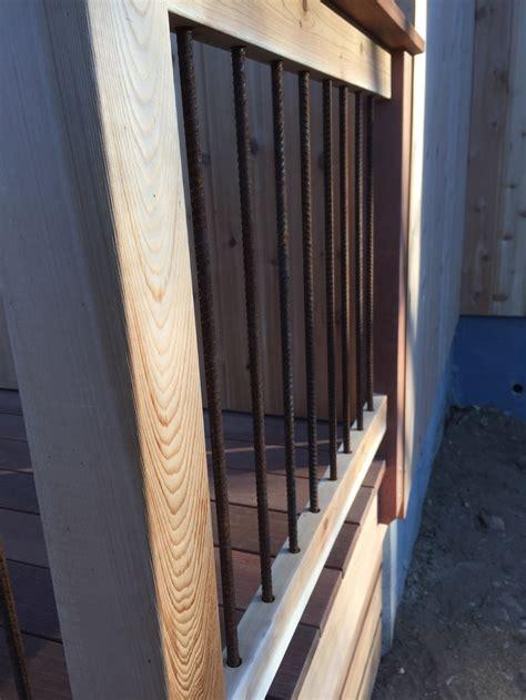 Stair Banister Rails Rebar Deck Railing Erikblock Com