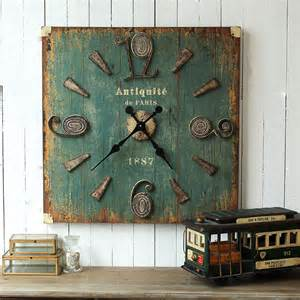 Square Living Room Clocks Country Style American Industry To Do The Retro