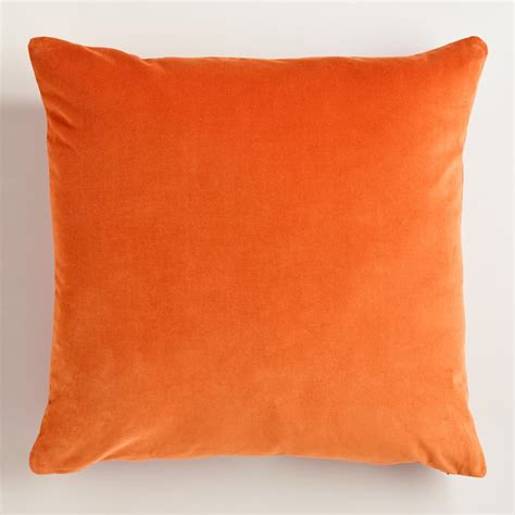Orange Sofa Pillows Pillows Velvet Large Interior Design Ideas Small Space Gray