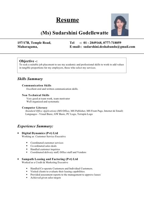 Sle Resume Cv Biodata 28 Temple Resume Format 19 Temple Resume Template Letter Sle It Cv Template 7 Free Documents