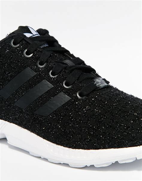 adidas zx flux patterned trainers adidas originals originals zx flux lux fabric trainers in