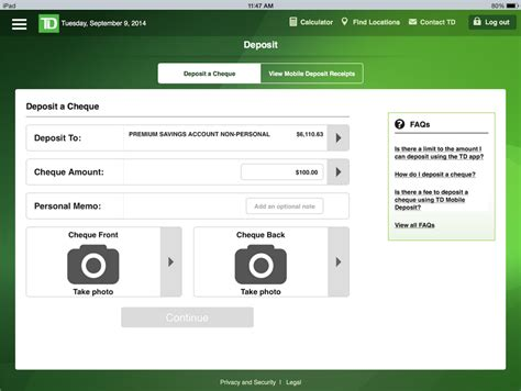 td bank check deposit app td canada trust app for ios and android updated with