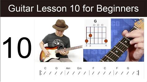 guitar tutorial for beginners youtube guitar lesson 10 for beginners canon in c youtube