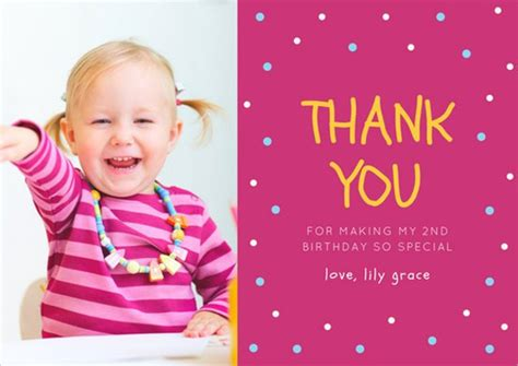 Thank You Card Template For Birthday Giveaways birthday thank you cards poque cards
