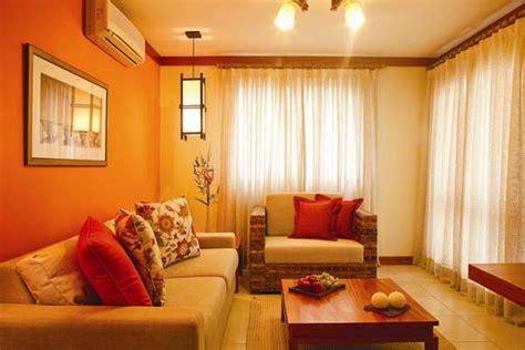 orange wohnzimmerwände die orange farbe bedeutung wirkung und innendesign