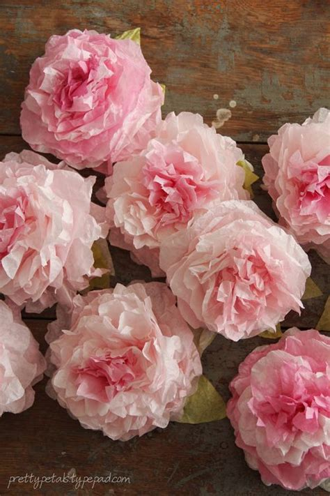 How To Make Paper Flowers Out Of Coffee Filters - tutorial make pretty peonies from dyed coffee filters