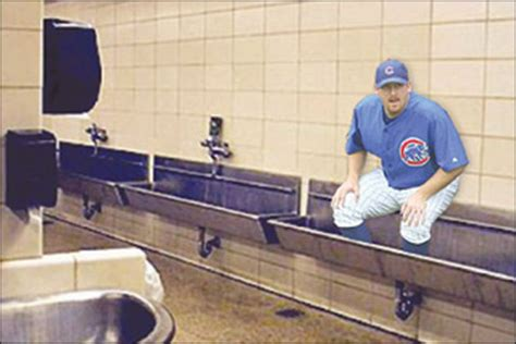 Wrigley Field Bathroom by Practical Joke Goes Terribly Awry As Dempster Gets Stuck