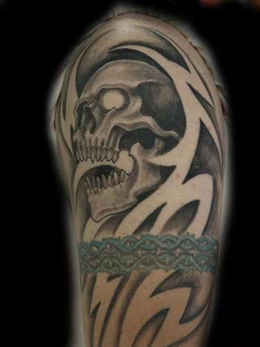 negative tribal tattoo skull negative tribal by anthony lawton tattoonow
