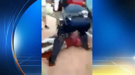 cop body slams fan cubs caught on video officer body slams student