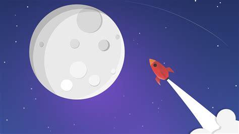 wallpaper rocket moon hd  space