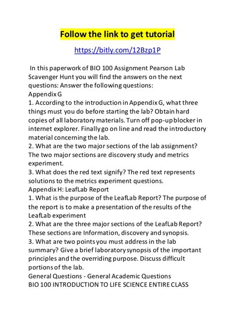biography in context scavenger hunt bio 100 assignment pearson lab scavenger hunt