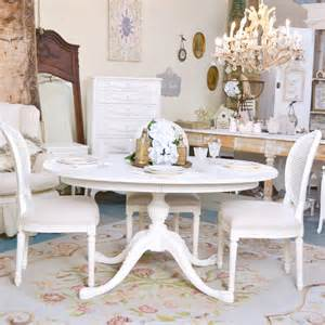 Black Shabby Chic Dining Table Shabby Cottage Chic White Oval Pedestal Dining Table Vintage Style Roses Ebay