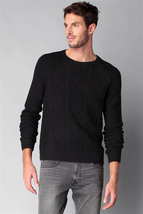 Esprit Fashion Miring Black esprit jumper in black for lyst