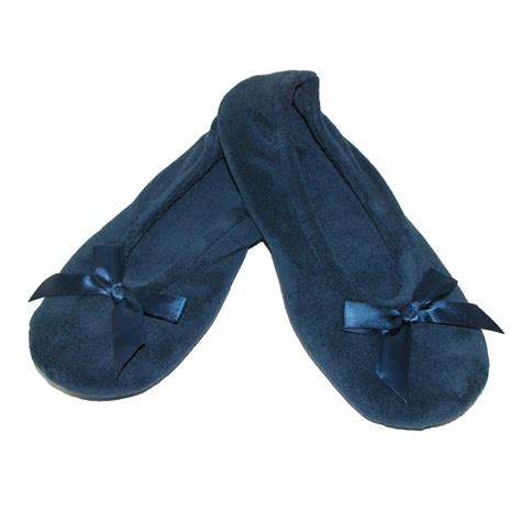 ballerina slippers for new isotoner s terry classic ballerina slippers ebay
