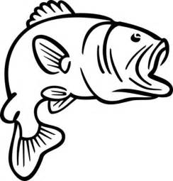 Bass Fish Clipart Black And White  ClipartFox sketch template