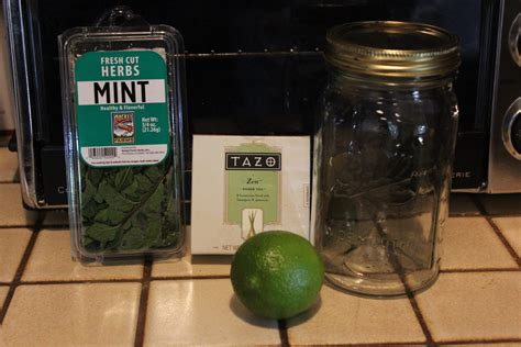Green Tea Mint Lime Detox Water by Green Tea Mint And Lime Detox