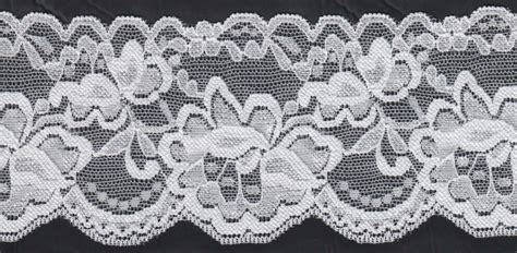 Lace Trim Lace 1y white stretch lace trim scalloped floral design 3 w s 7 6