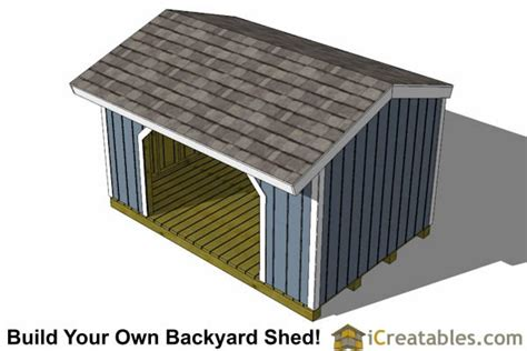 8x16 Shed Plans by 8x16 Firewood Shed Plans Icreatables