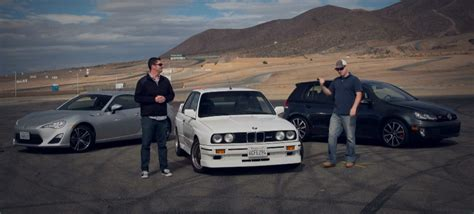 bmw volkswagen bmw e30 m3 vs vw golf gti vs scion fr s by motortrend