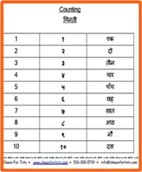 hindi numbers name 1 100 learn hindi with colorful charts