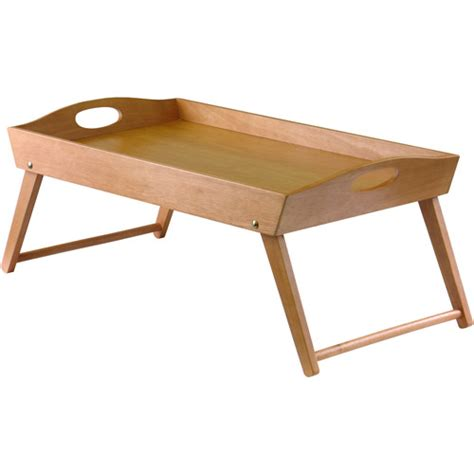 tray table for bed freddy lap table bed tray light oak walmart com
