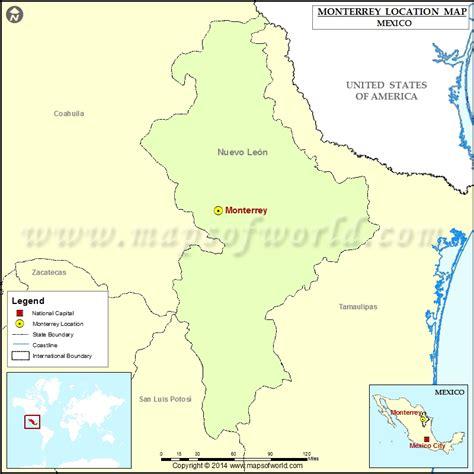 map of monterrey mexico where is monterrey location of monterrey in mexico map