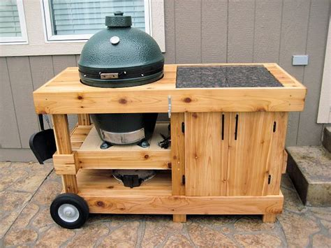 cabinet with shelf beneath bge big green egg