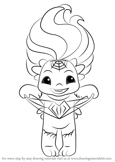 coloring pages zelfs step by step how to draw webina from the zelfs