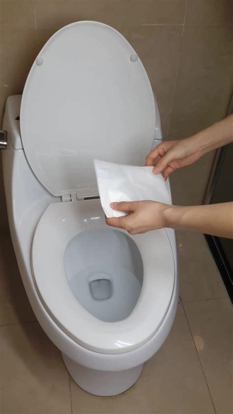 Disposable Toilet Cover toilets use disposable flushable paper toilet seat