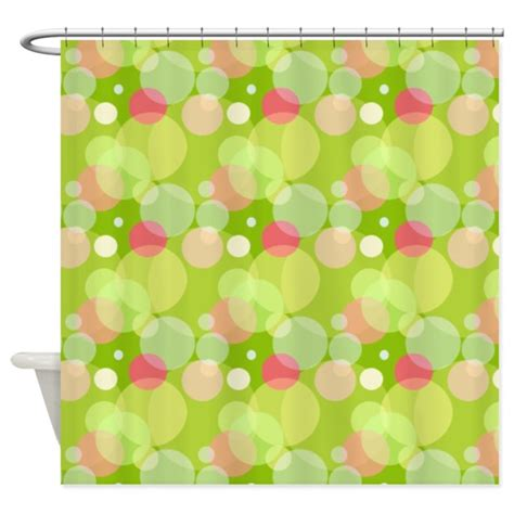 green and pink shower curtain green and pink bubbles shower curtain by cheriverymery
