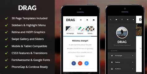 Drag Mobile Tablet Responsive Template Latest News On Apple Products Latest Release Apps Mobile Responsive Template