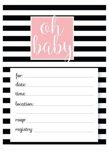 free baby shower invitation templates printable baby