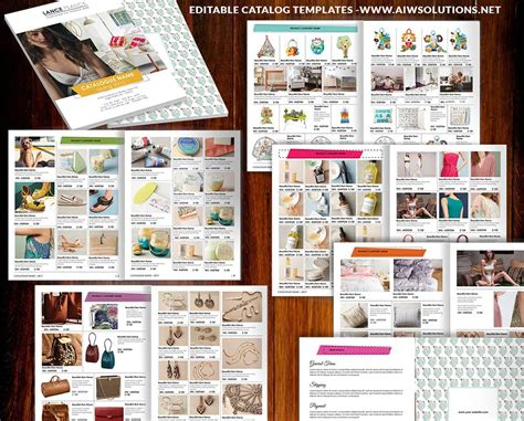 Product Catalog Template For Hat Catalog Shoe Catalog Template Hand Bag Template Accessory Catalogue Brochure Templates
