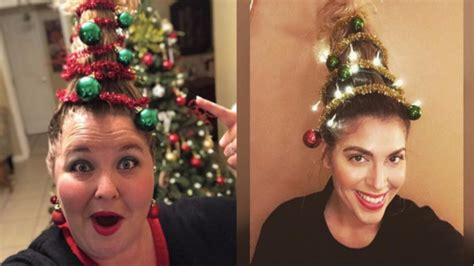 christmas tree girls hair do be the at the with tree hair