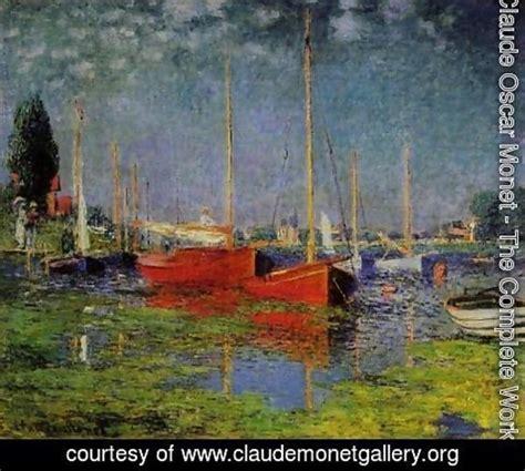 monet boats at argenteuil claude oscar monet the complete works pleasure boats