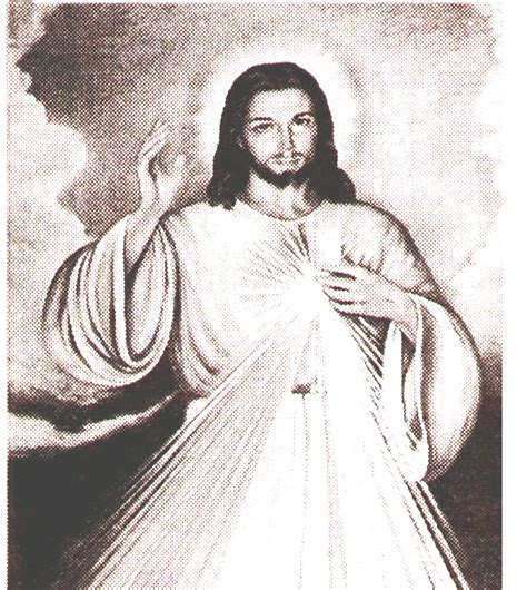 imagenes jesus blanco y negro fiesta de la divina misericordia domingo ii de pascua