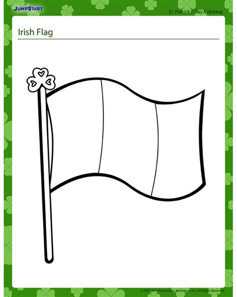the irish flag coloring pages