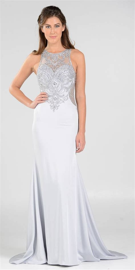 Sleeveless Evening Gown sleeveless fit and flare evening gown gowns