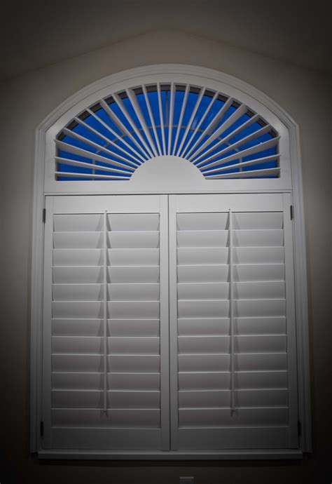 Blinds For Curved Windows Designs Great White Outside Mount Blinds For Arched Windows With Simple Trellis Transom Windows