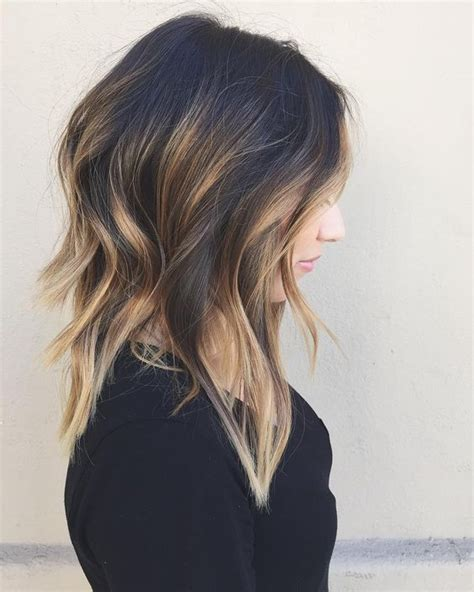 medium length hair with ombre highlights 15 must see shoulder length balayage pins shoulder