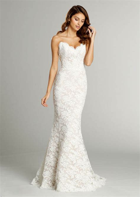 strapless sweetheart pattens trumpet wedding dress