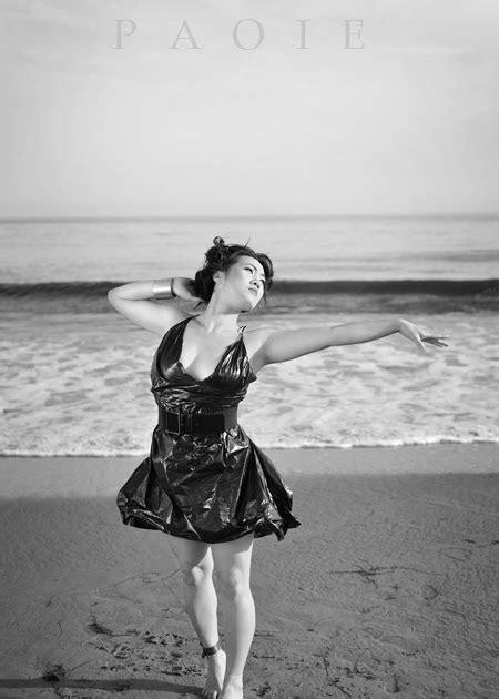 PAOIE photography: Black Trash Bag Dress