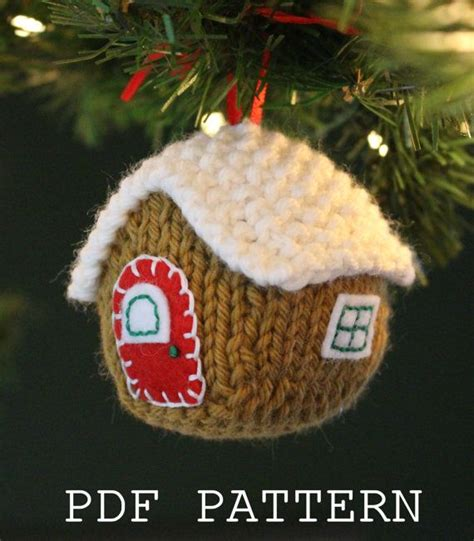 knitting pattern gingerbread house gingerbread house ornament knitting pattern on etsy new