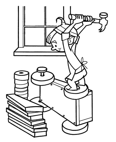 coloring page hard work christmas elf coloring pages az coloring pages
