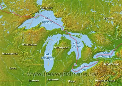 the great lakes world map the eastern shore of lake superior lake superior